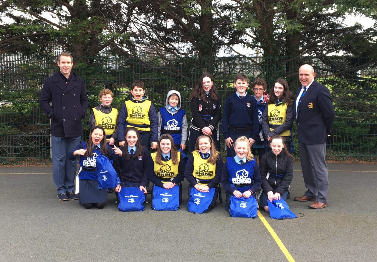 Leinster Rugby President makes Surprise Visit to St Olaf's NS, Sandyford