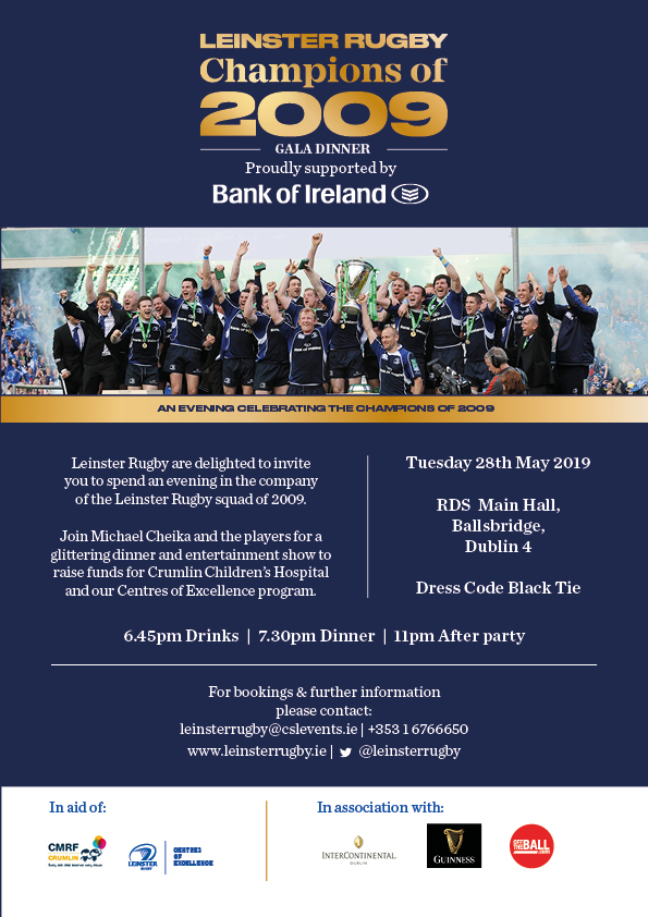 Leinster Rugby Champions Dinner