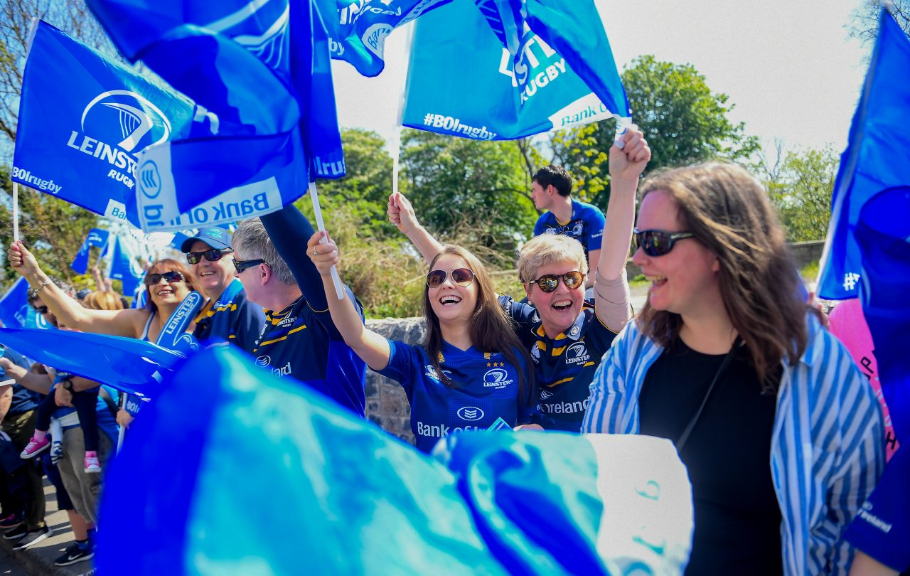 Leinster Rugby supporters