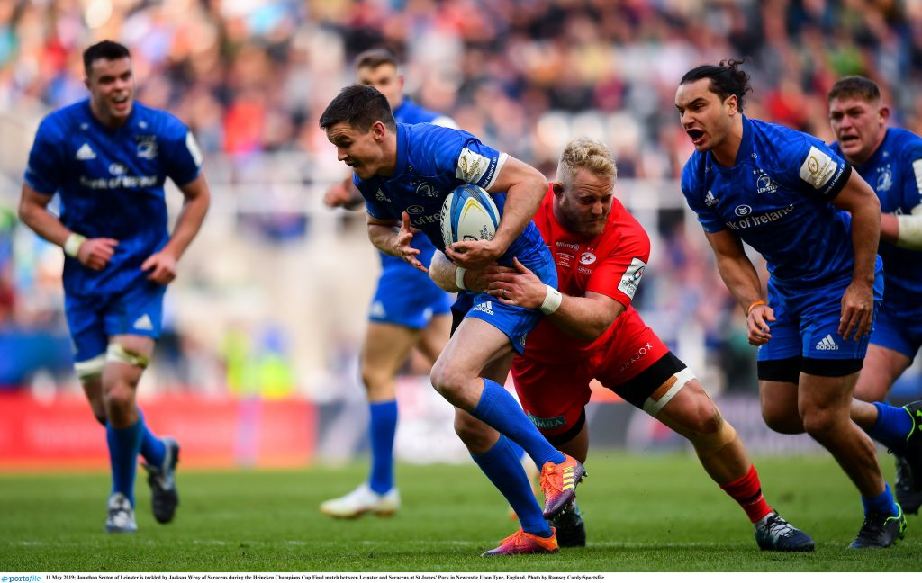 b21f73dd308 Defending champions Leinster Rugby fell at the final hurdle in Newcastle as  Billy Vunipola's 66th-minute try steered Saracens to a 20-10 win and their  third ...