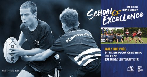 Leinster School of Excellence returns in 2020 for its 23rd year