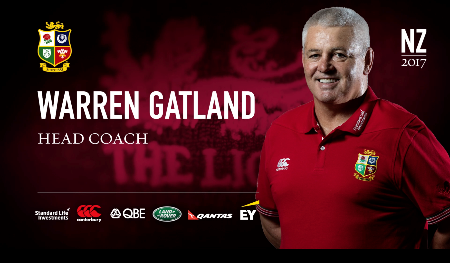 Warren Gatland appointed British & Irish Lions Coach