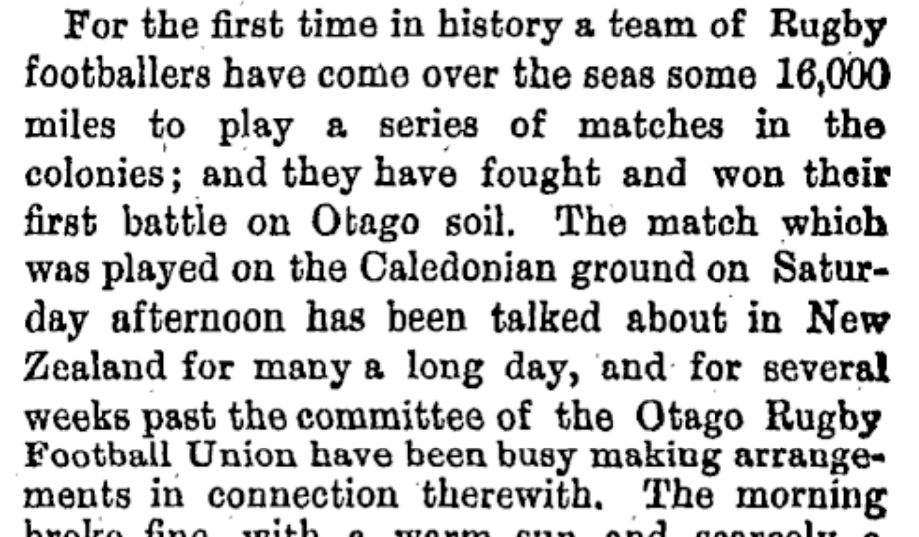 The 1888 Lions – 'The fastest and hardest fought game ever seen'