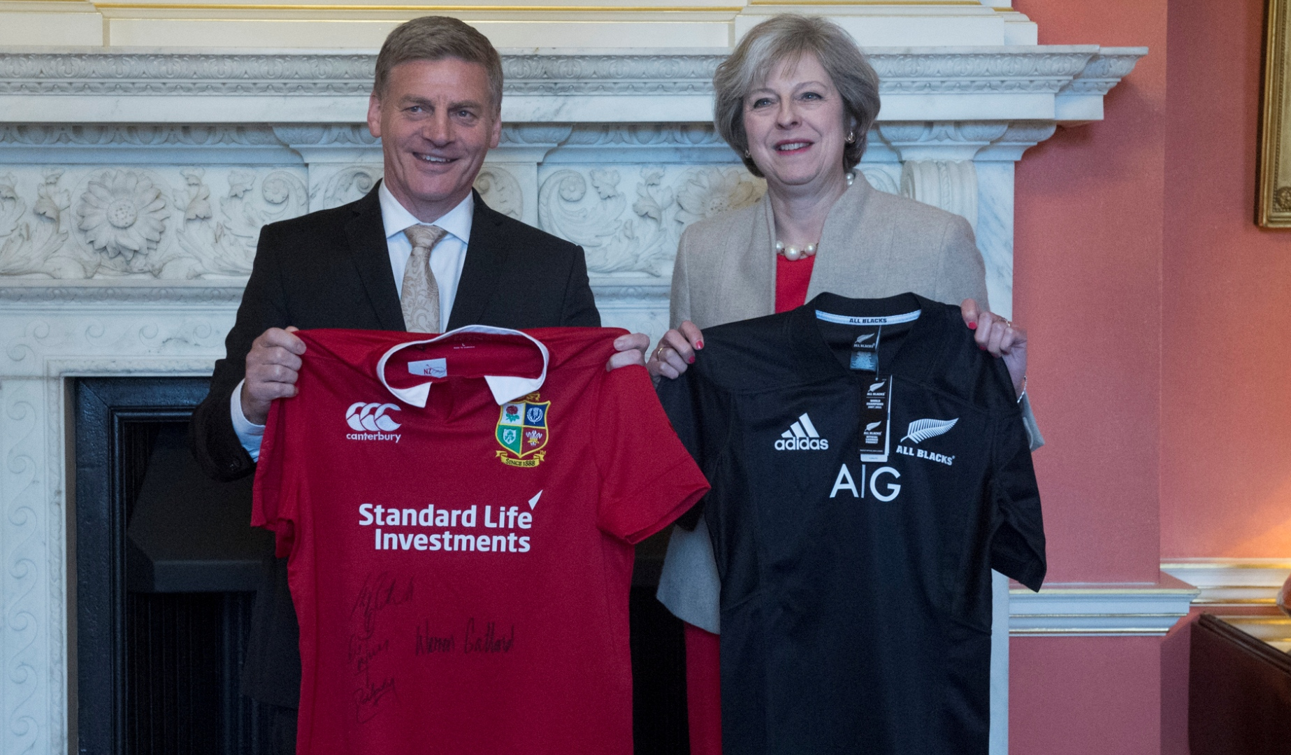 Prime Ministers Jersey Swap