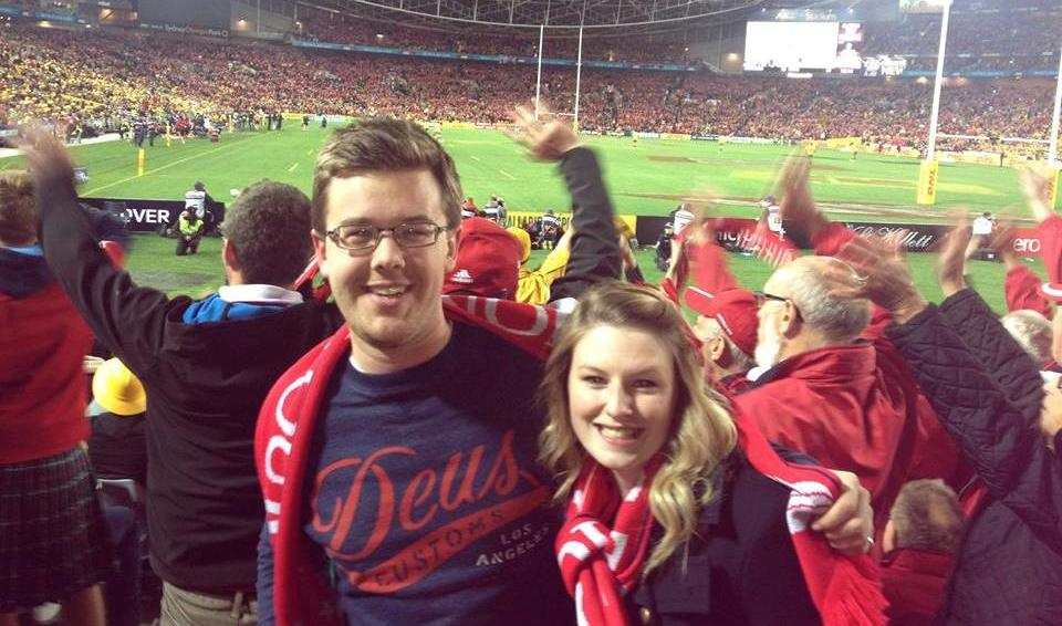 Falling in love at a Lions match
