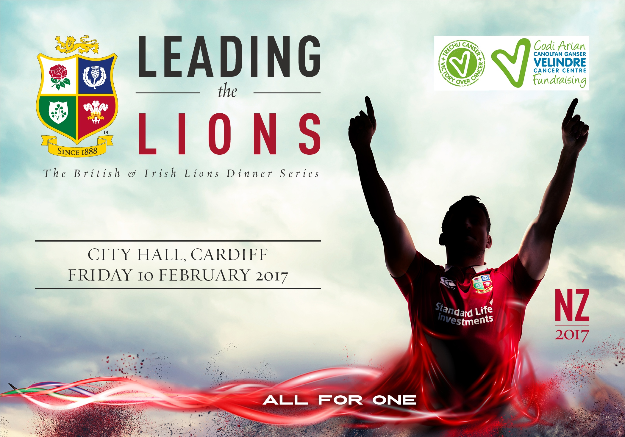 BRITISH & IRISH LIONS PARTNER WITH VELINDRE CANCER CENTRE