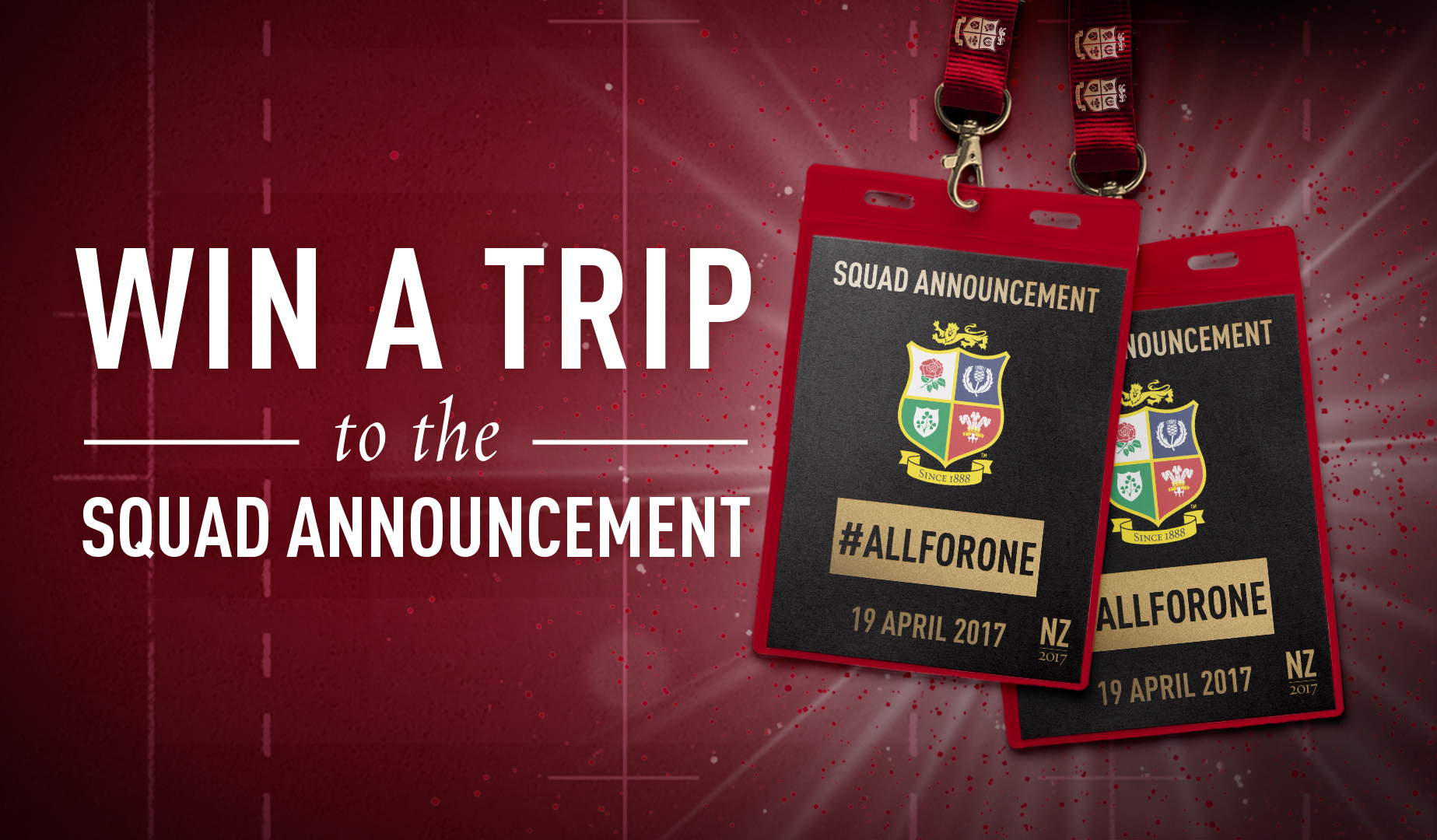Win a trip to the Lions squad announcement