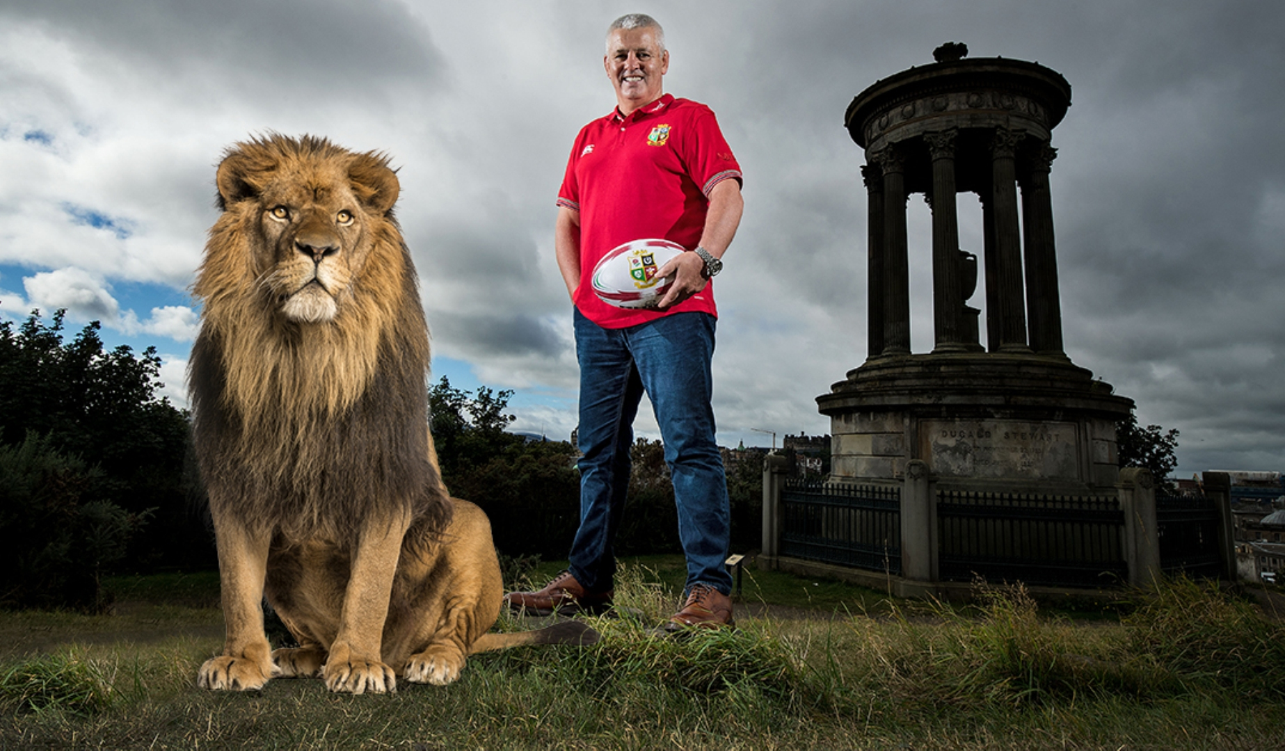 Real life lion to lead team onto pitch in New Zealand