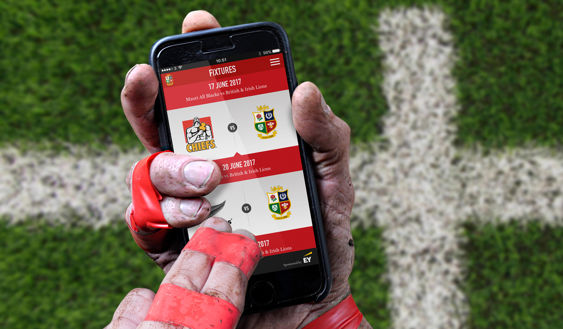 Download the Lions 2017 Tour calendar with the official App