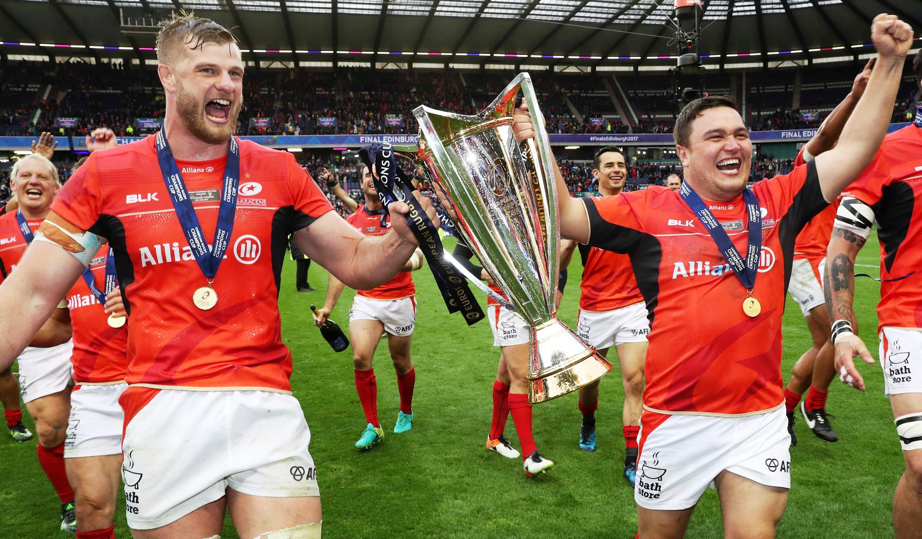 The opening match of the inaugural guinness inter national champions - Lionswatch Saracens Six Taste More Champions Cup Glory
