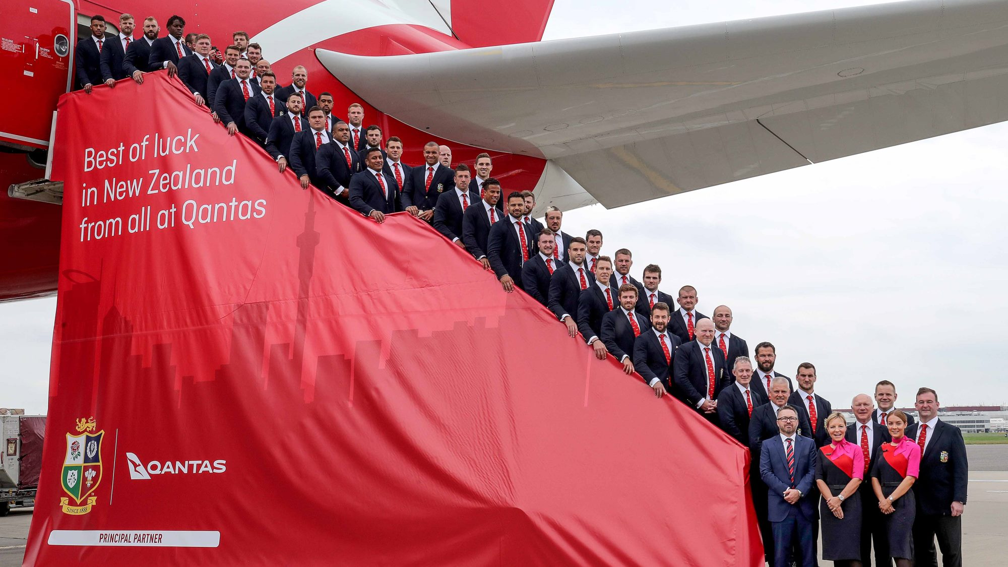Lions squad departs for New Zealand