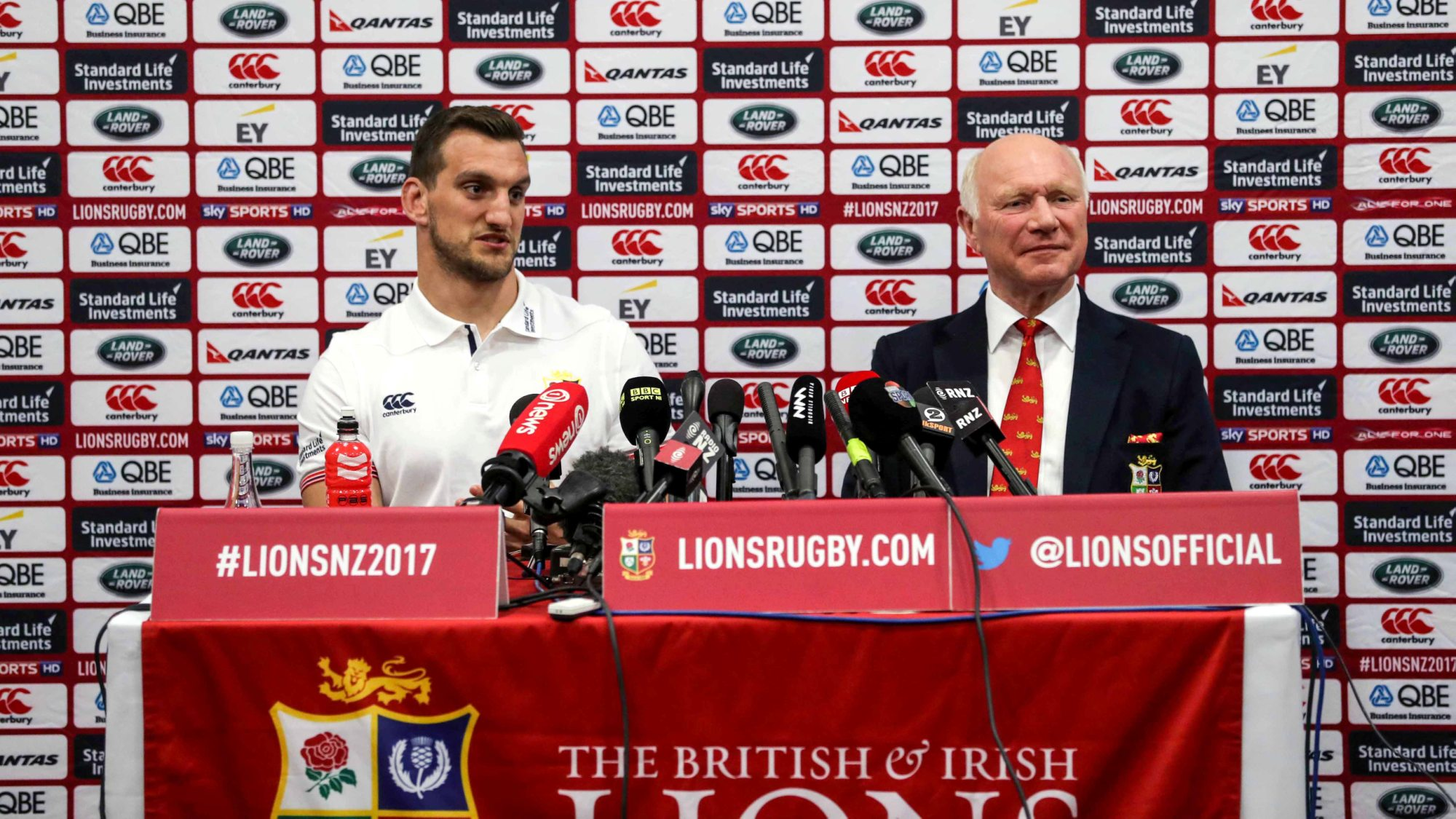 British & Irish Lions team to play New Zealand Provincial Barbarians
