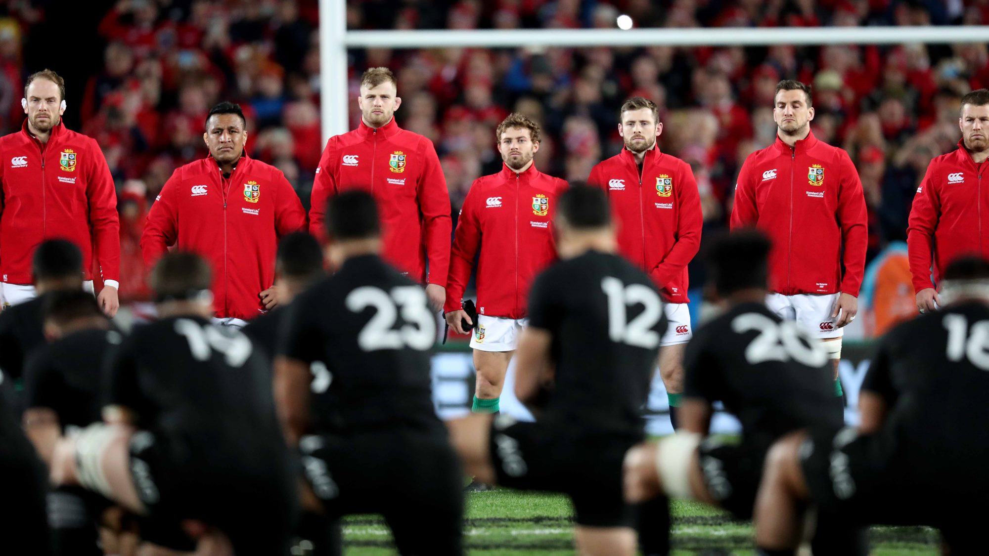 All for one: Lions supporters learn the haka