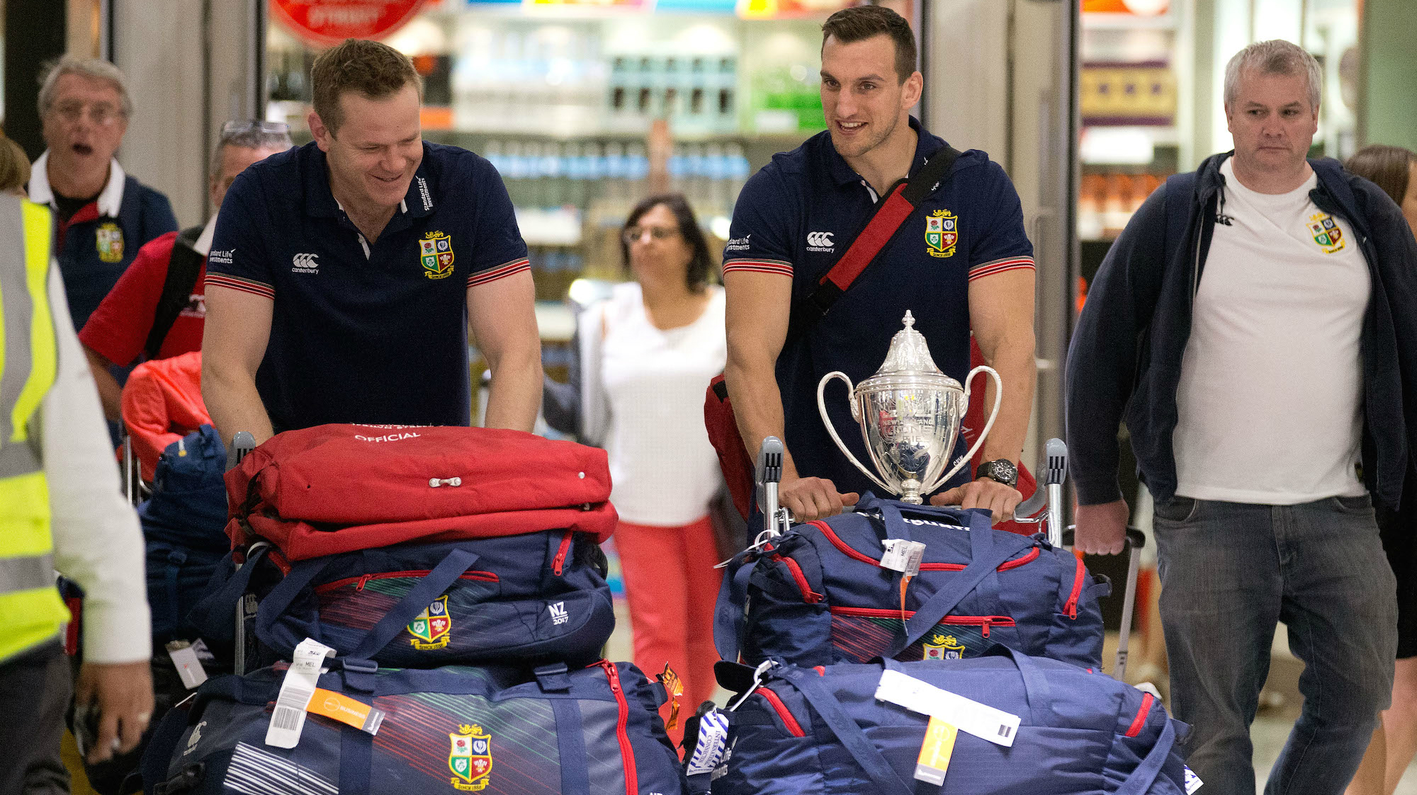 Sam Warburton and John Spencer hail fans as Lions return home
