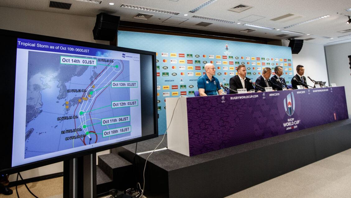 England game cancelled as Typhoon Hagibis edges towards Japan