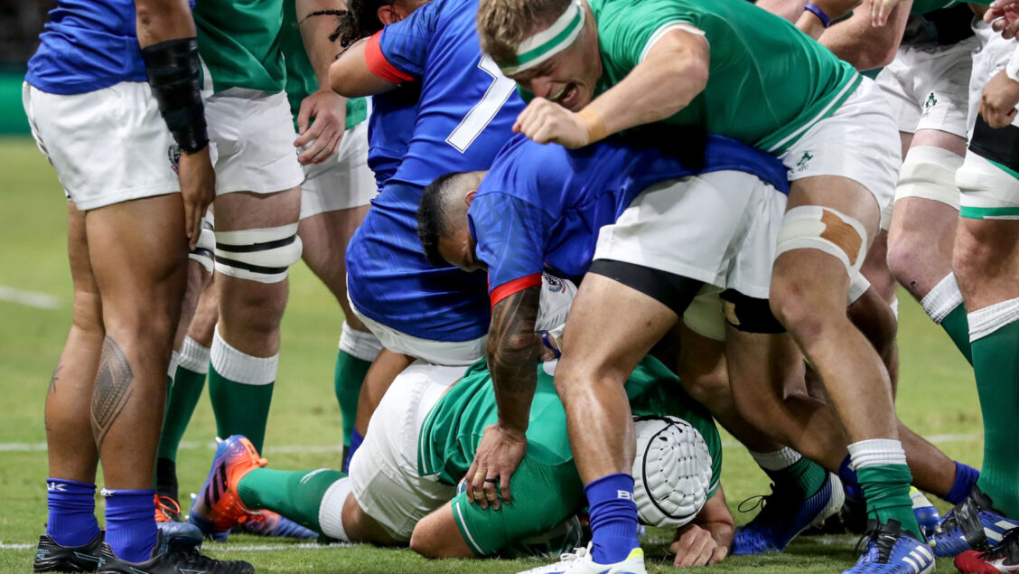 Best happy with Ireland character in Samoa win