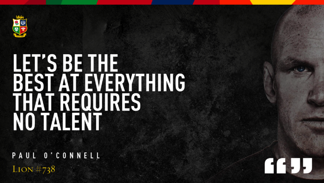 Feature: Paul O'Connell's inspiring motto