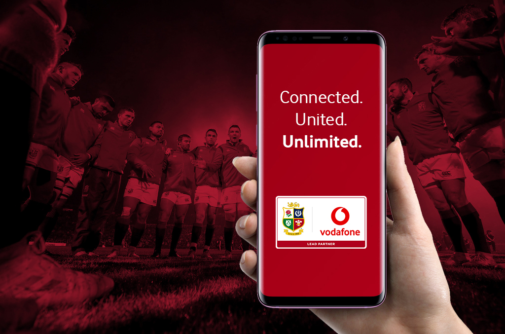 Vodafone partner with Lions for rugby's greatest adventure