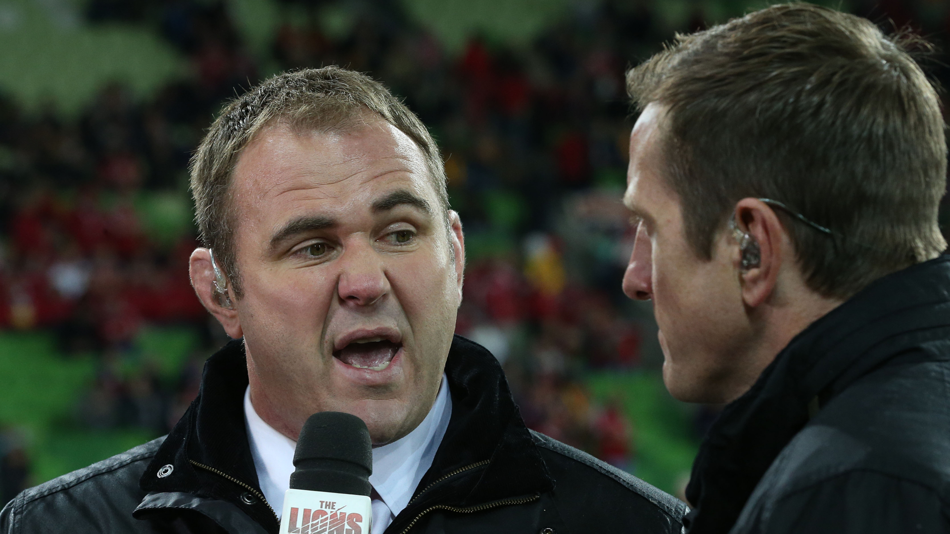 Scott Quinnell as a pundit in 2017