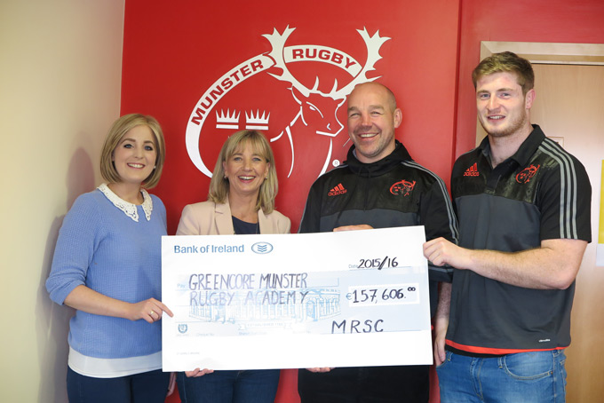 MRSC Present Cheque to Munster Rugby Academy