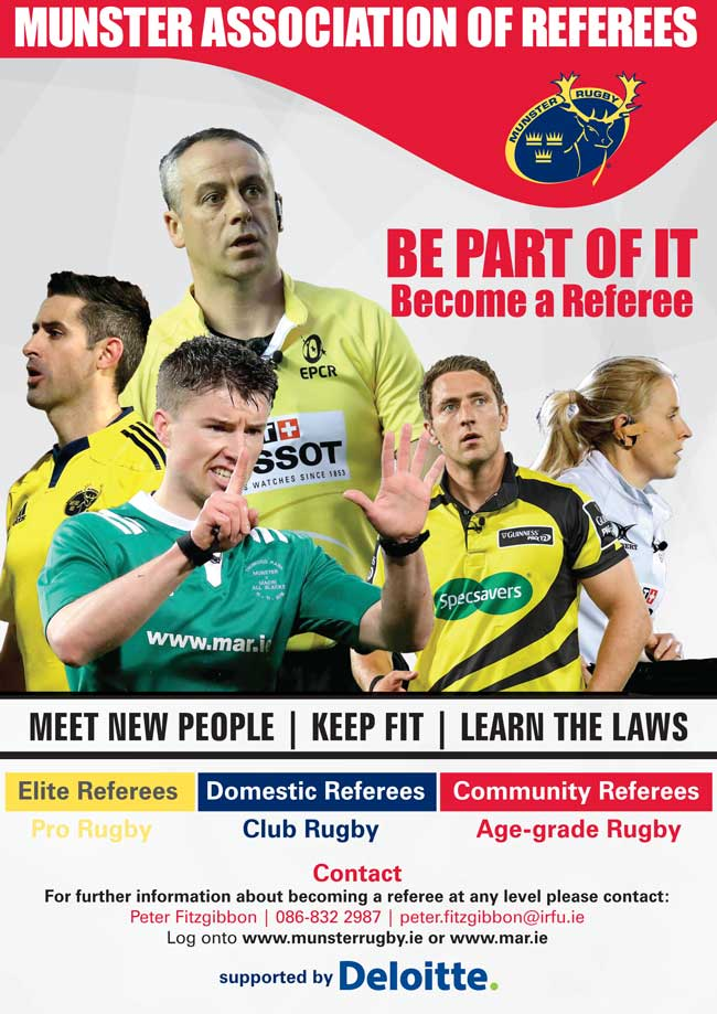 Join the Munster Association of Referees (MAR)