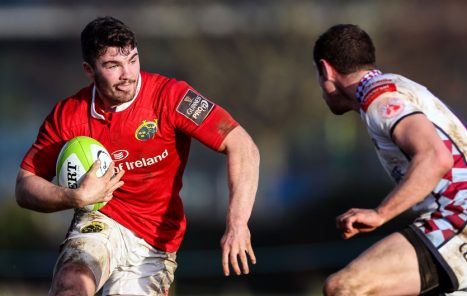 Sam Arnold on the attack for Munster A this season (c) Inpho