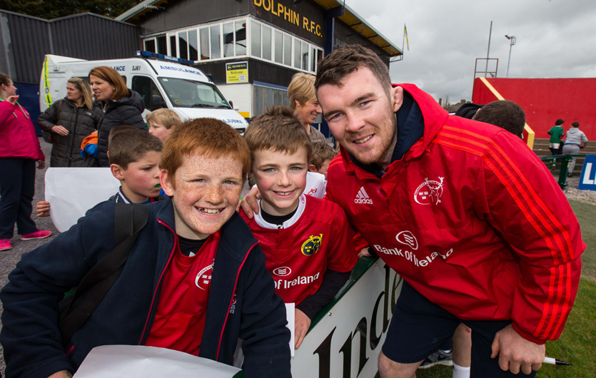 Captain Peter O'Mahony with fans at last season's Open Training Session in Irish Independent Park.