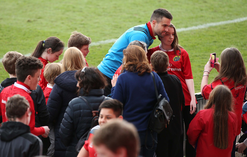 Conor Murray meets fans at last year's Open Training Session in Irish Independent Park.