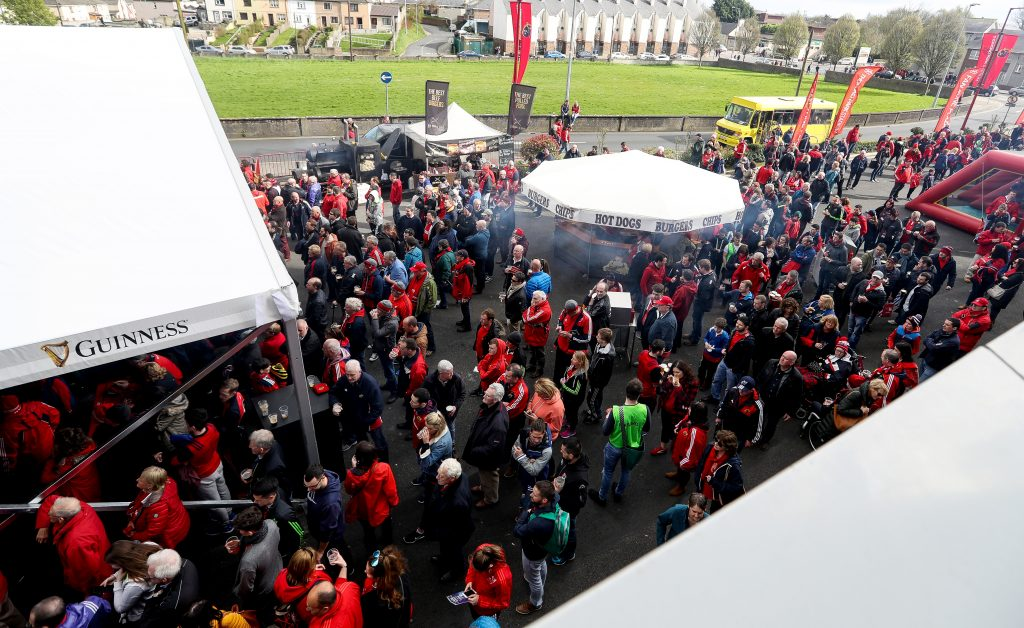 The new covered Pavilion on the Fanzone at Thomond Park.