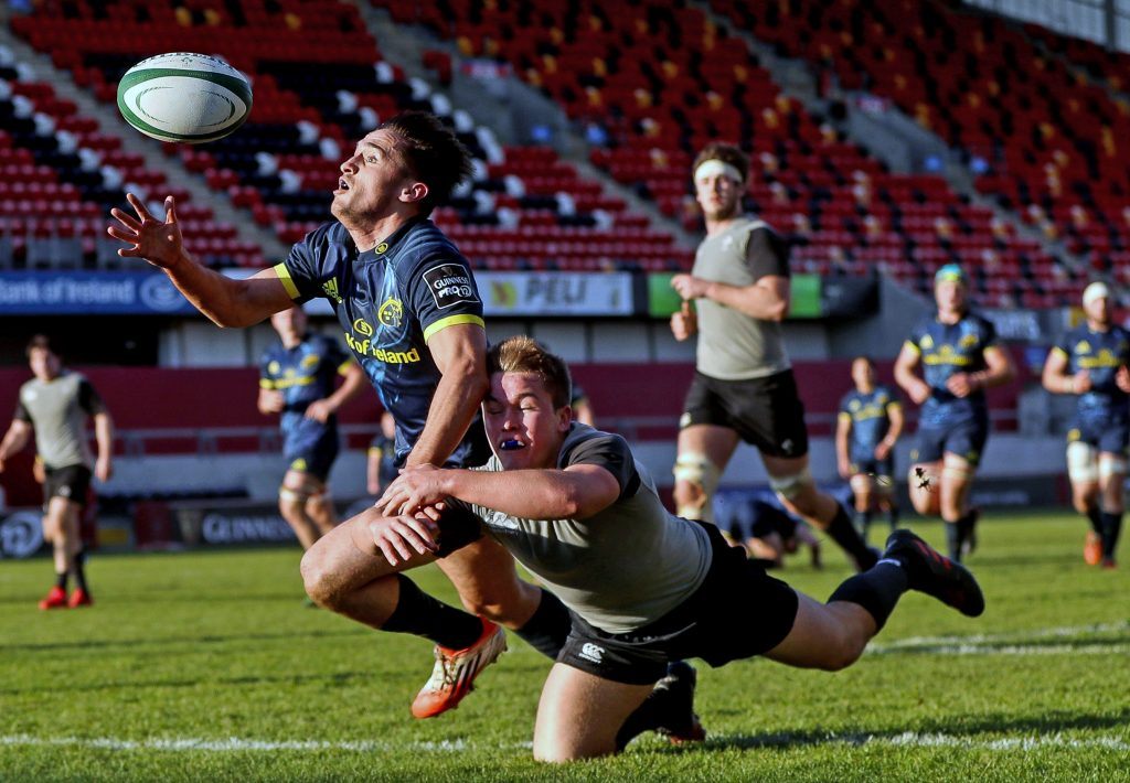 Academy winger Greg O'Shea scores a try against Ireland U20 in December.