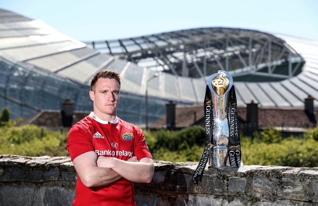 Rory Scannell pictured at the Guinness PRO12 semi final media event at the Aviva Stadium.