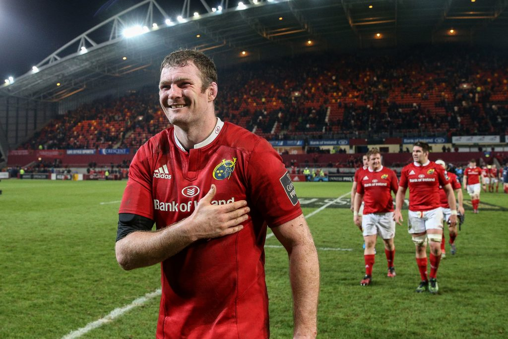 Donnacha Ryan is set to line out in the red jersey at Thomond Park for the final time tomorrow.