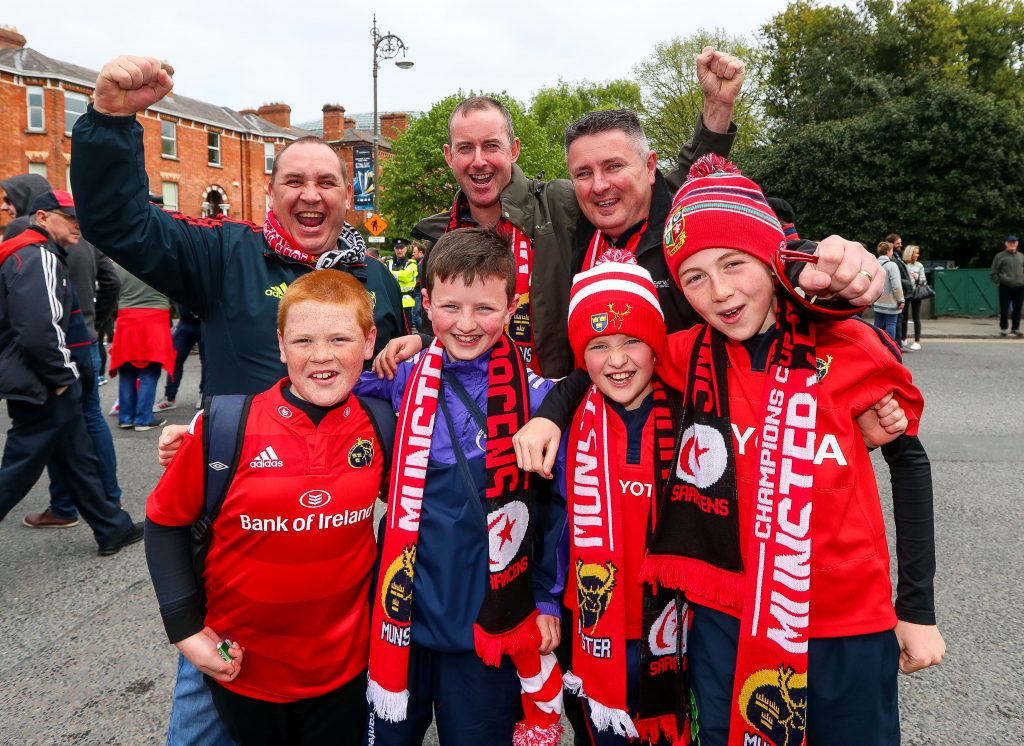 Munster fans get set to cheer on Munster in Dublin.