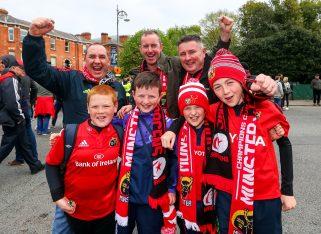 Munster fans get set to cheer on Munster in Dublin.