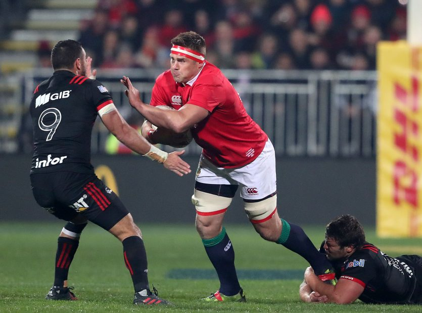 CJ Stander in action for the Lions against the Crusaders.
