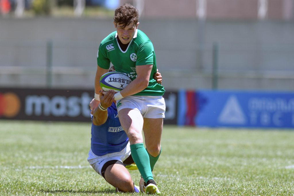 Calvin Nash on the attack against Samoa today.