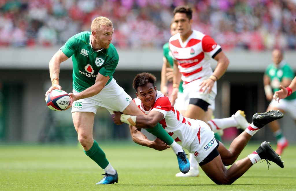 Keith Earls on the attack.