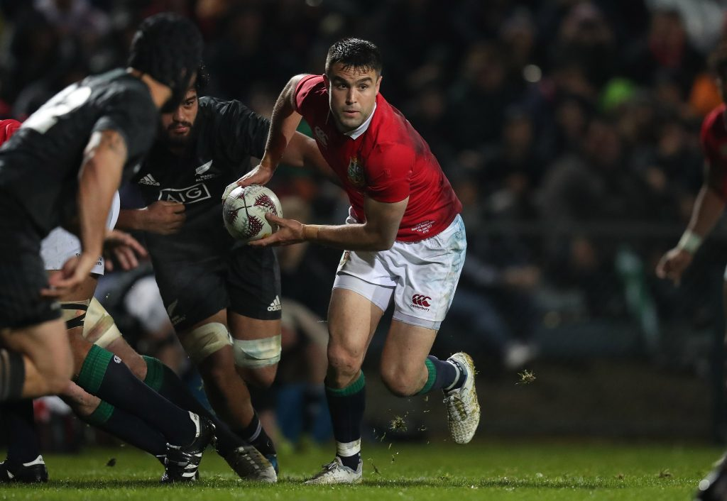 Conor Murray on the attack against the Maori All Blacks.