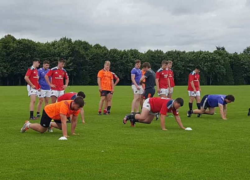 The next generation of Munster players training in UL at the Bank of Ireland Munster Rugby Talent Camps.