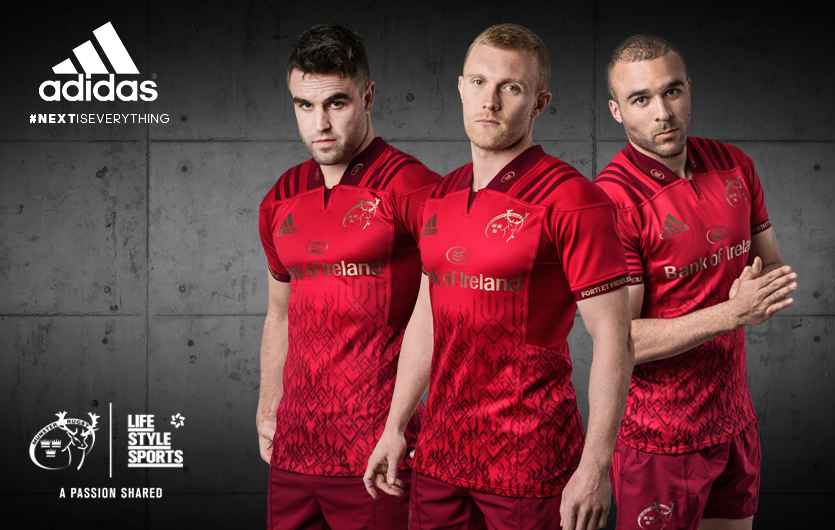 d74a503e9a62 adidas and Munster Rugby have revealed the new Munster home jersey