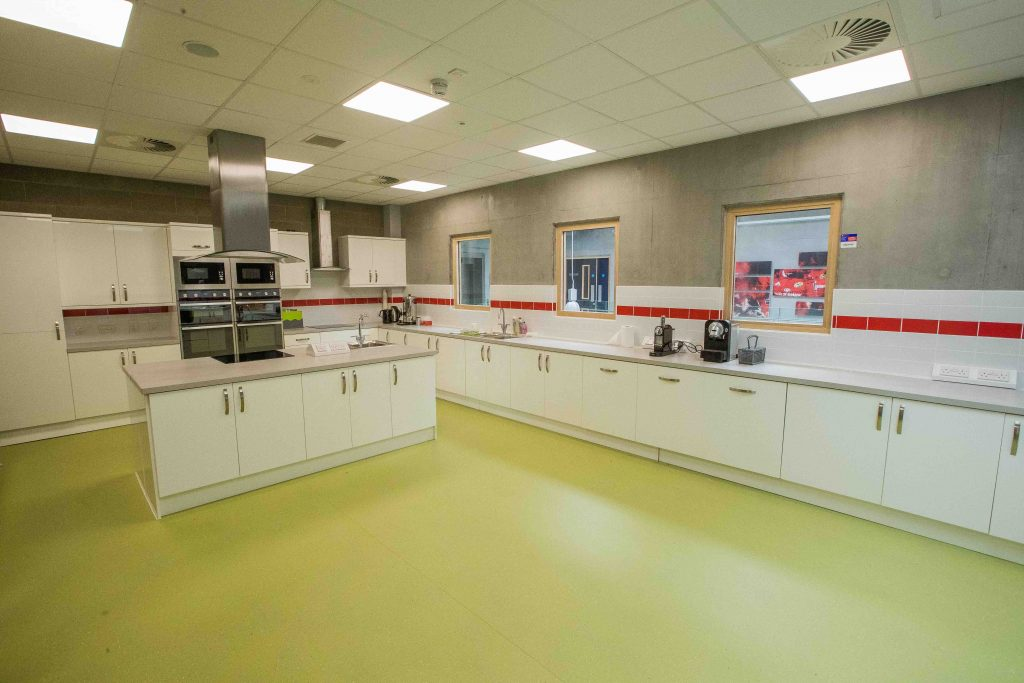 The Greencore Group Kitchen in Munster's High Performance Centre.
