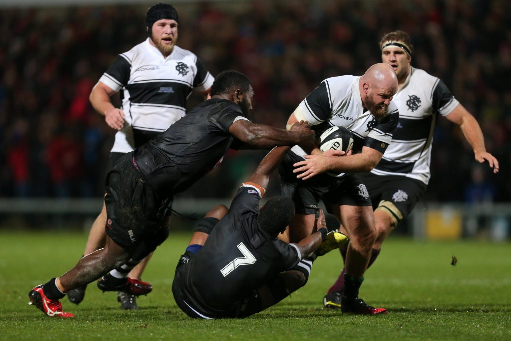 All Blacks international Ben Franks in action for the Barbarians last year.