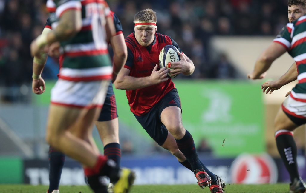 John Ryan in Champions Cup action for Munster last season.