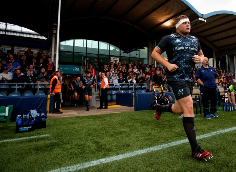 Liam O'Connor takes to the field for Munster this season.