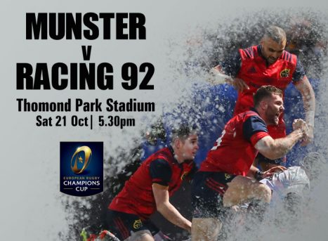 Ticket & Matchday Info | Munster v Racing 92