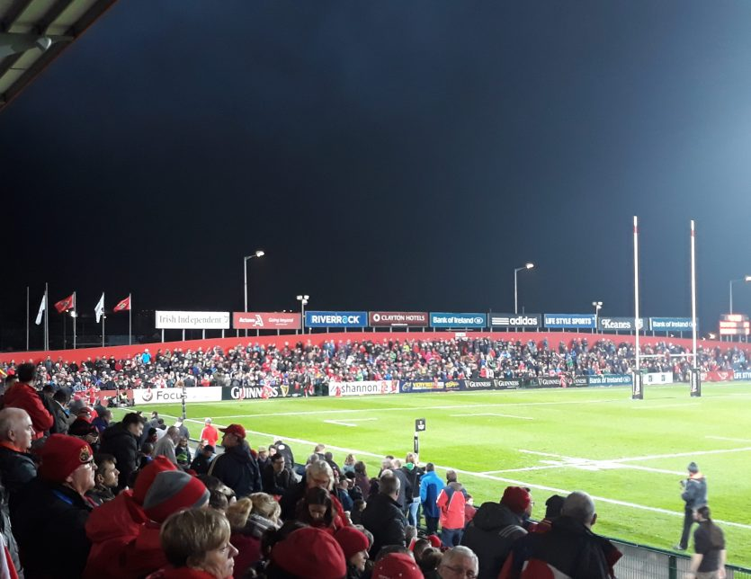 Irish Independent Park under lights.