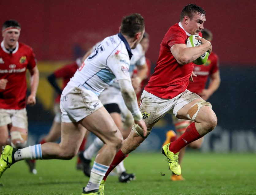 Tommy O'Donnell lined out for Munster A in Irish Independent Park on Friday night.