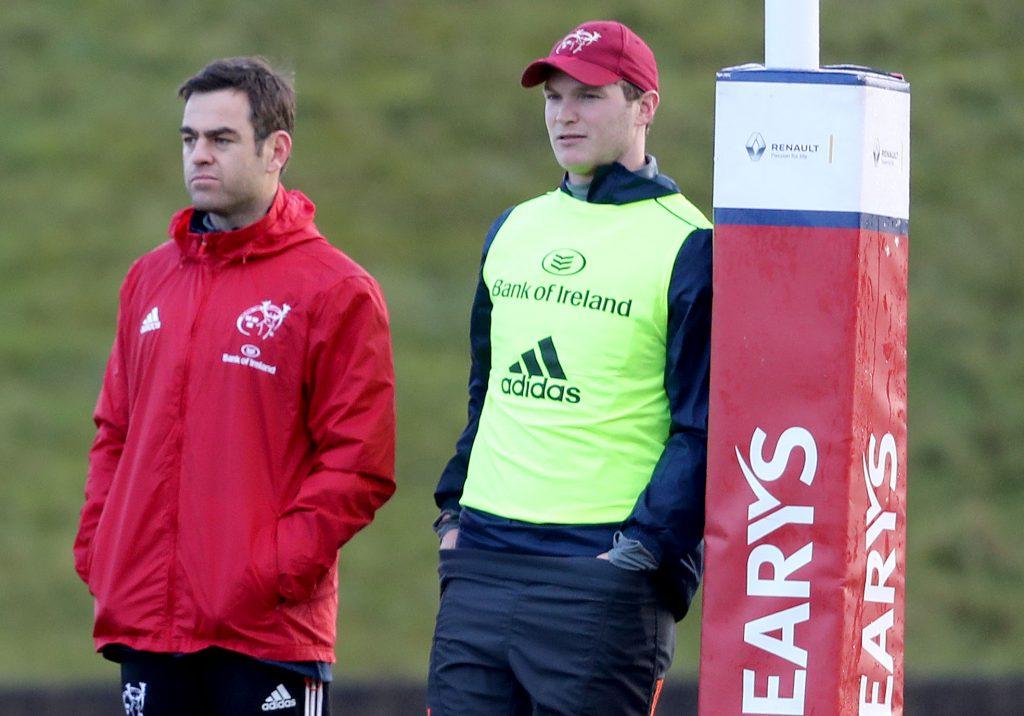 Head Coach Johann van Graan and Tyler Bleyendaal.