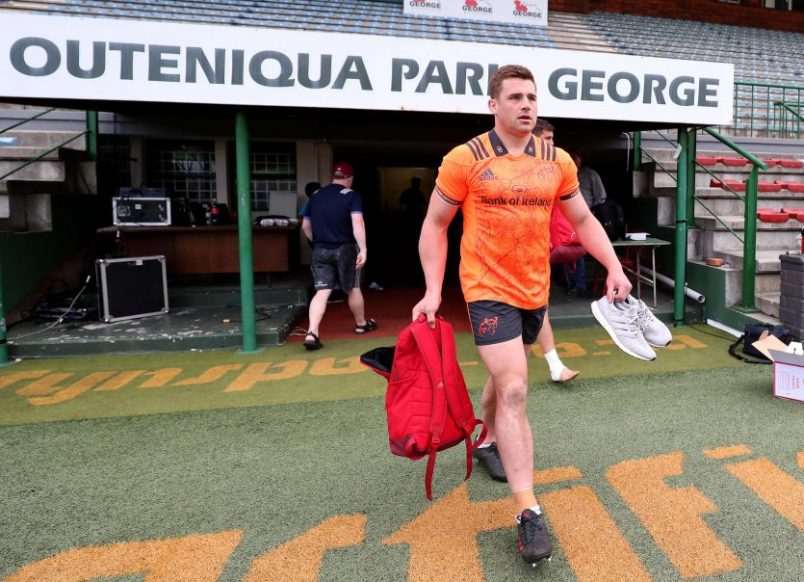 CJ Stander arrives at Outeniqua Park, George, South Africa.
