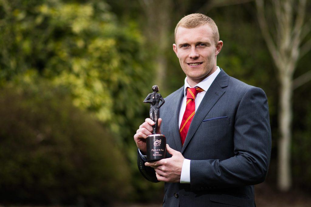 2018 Munster Rugby Player of the Year Keith Earls